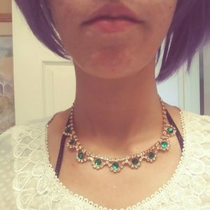 Jewelry - Antique Emerald & Gold Necklace